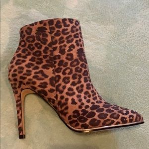 Leopard Print Ankle Booties